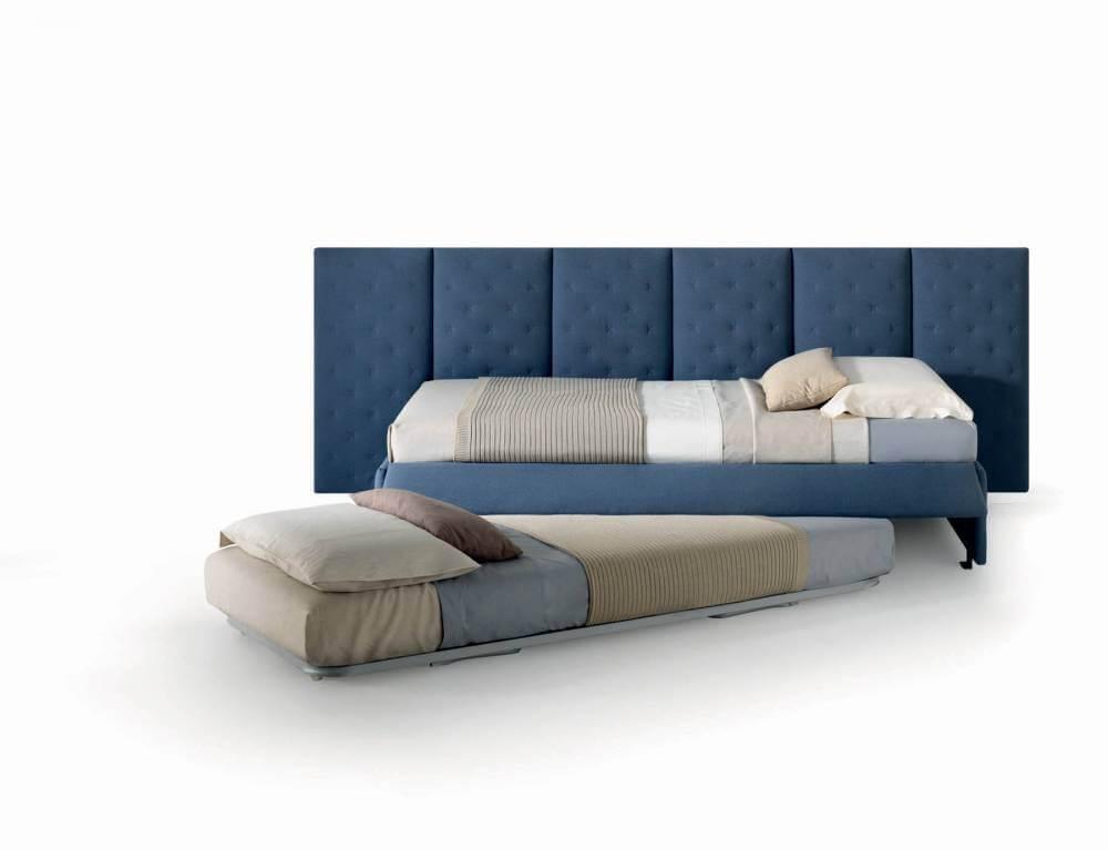 Letto con panelli modello stella arredamento zona notte letti imbottiti - Letto con letto sotto ...