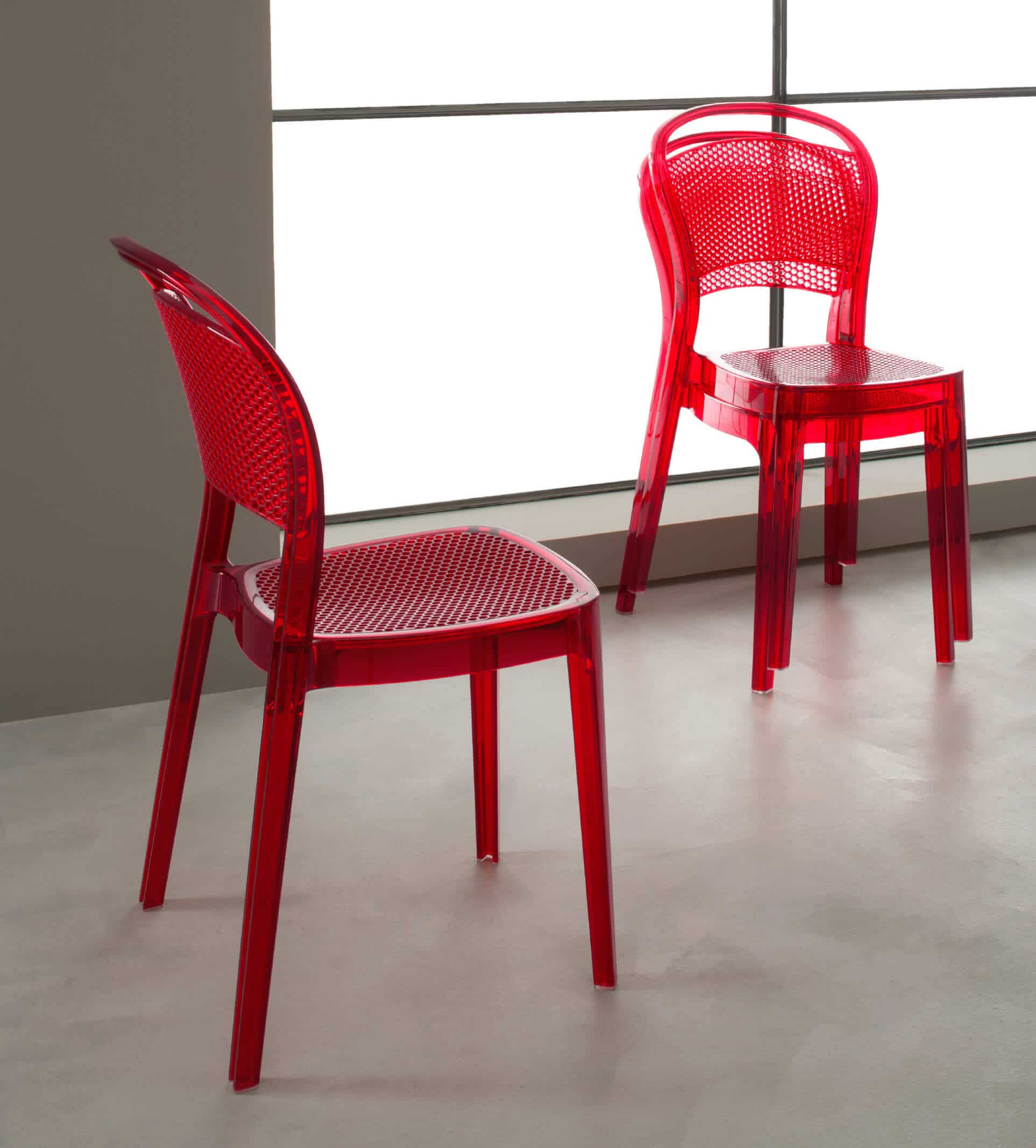 Sedia modello katy complementi e illuminazione sedie for Sedia rossa