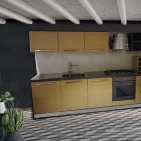 Cucina Lineare Da Esposizione Modello Vela - sezione in svendita