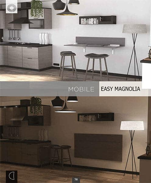 Tavolo Trasformabile Multi Funzione a Ribalta Modello Easy Magnolia, Tavolo Trasformabile Multi Funzione a Ribalta Modello Easy Magnolia
