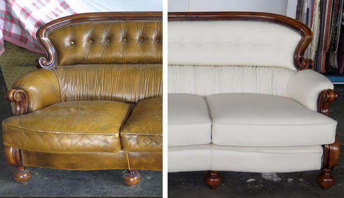 Restauro divano prima e dopo - salvaspazio