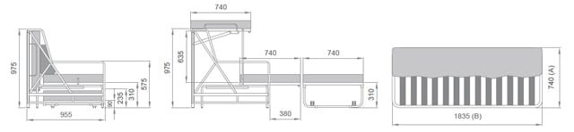 divano-letto-trasformabile-a-castello-versione-con-tre-letti-cisliano-tris-ogni-raffigurazione-con-misure scheda tecnica