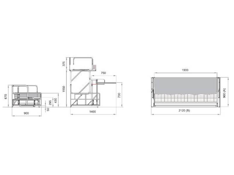 Divano Letto Trasformabile a Castello con Scrivania Modello Cisliano Desk