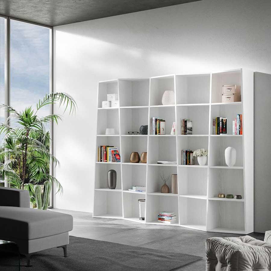 Libreria Modello Bingo 5 Moderna Trapezoidale Arredamento ...