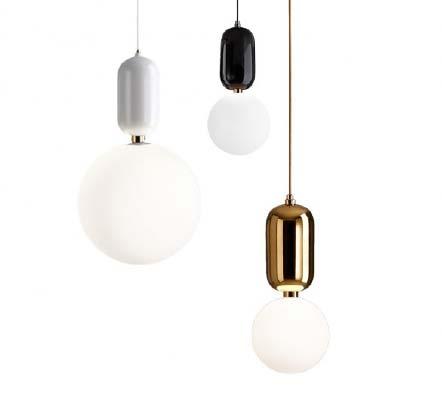 , Lampada a sospensione Pool Gold/Black/White
