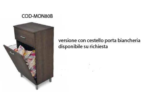 , Scarpiera artigianale con cassetti Monza 80