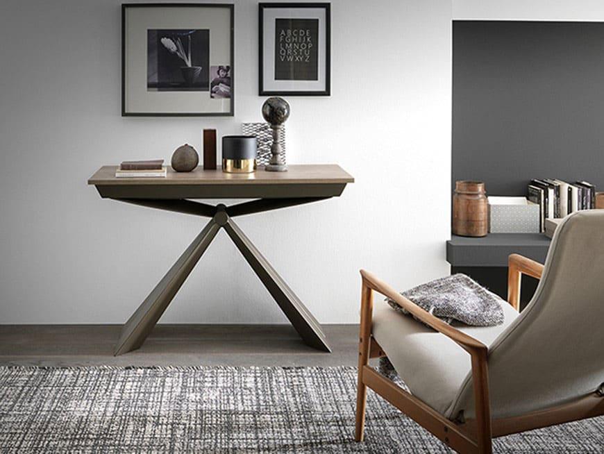 tavolo-a-consolle-allungabile-estensibile-modello-origine-foto-chiuso-a-parete- salvaspazio