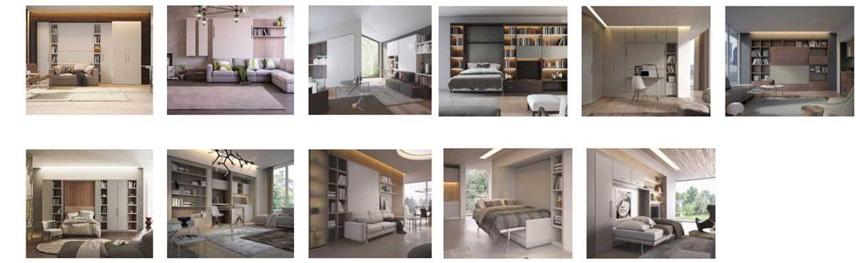 arredamento salva spazio artigianale su misura con letti a scomparsa di altissima qualità personalizzabili su misura