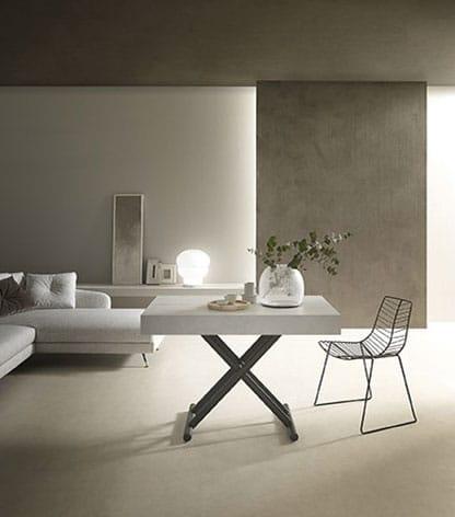 Tavolo soggiorno in acciaio