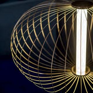 Dettaglio-oro-Montatura-Lampada-Da-terra-Led-Modello-Zar