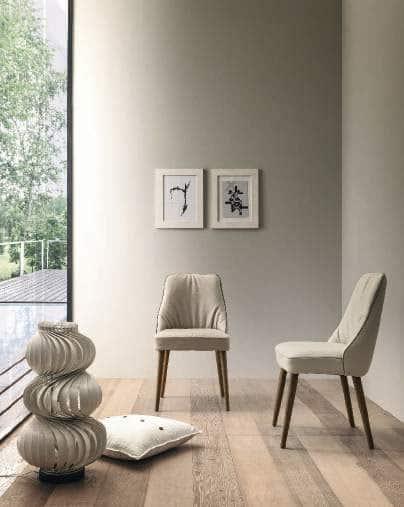 Sedia-Moderna-Soft-Modello-Jacky-Bianca-con-Gambe-Legno- salvaspazio