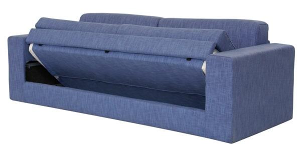 Sofà Girevole Singolo Orizzontale foto tessuto blu in paertura