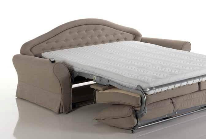 Divano letto modello asia classico convertibile - Divano letto aperto ...