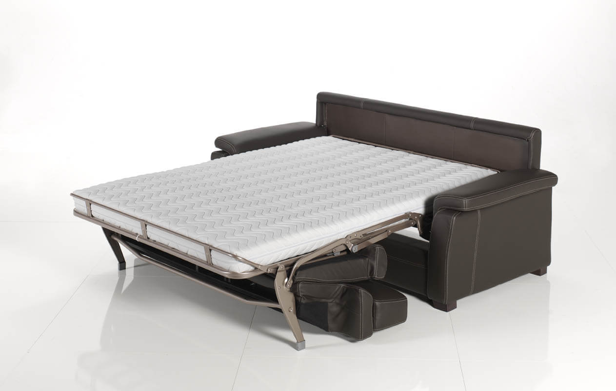 Divano letto modello collina arredamento zona giorno - Divano letto aperto ...