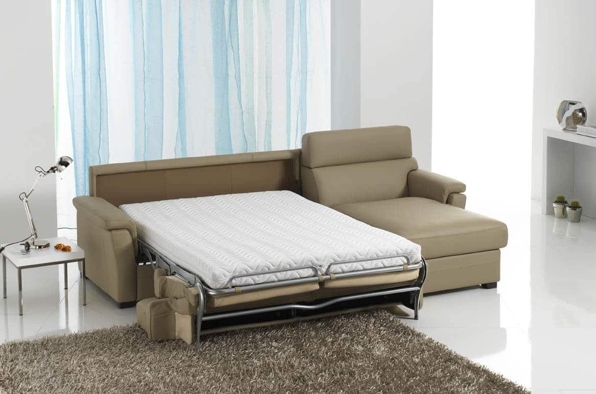 Divano letto modello collina arredamento zona giorno - Divano letto con cassettone ...