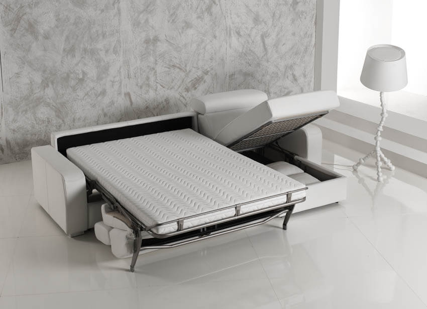 Divano letto modello siberia arredamento zona giorno - Divano letto aperto ...